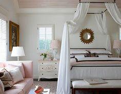 white, pink & brown bedroom