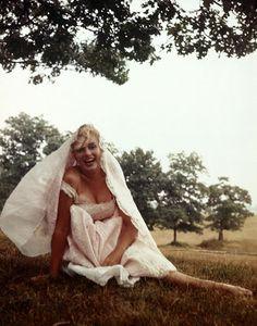 44. Marilyn by Sam Shaw, in Roxbury, Connecticut, 1954.