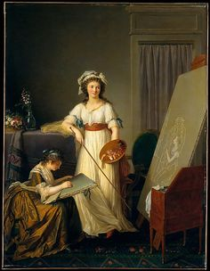 Marie Victoire Lemoine (French, 1754–1820). The Interior of an Atelier of a Woman Painter, 1796. The Metropolitan Museum of Art, New York. Gift of Mrs. Thorneycroft Ryle, 1957 (57.103) | The most important exhibitions in eighteenth-century Paris were the Salons, in general held every other year, and open only to artists associated with the Académie Royale de Peinture et de Sculpture. #paris