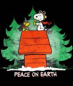 snoopy  peace on earth