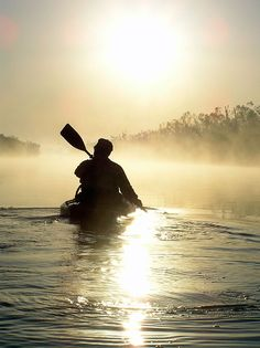canoeing into the dawn