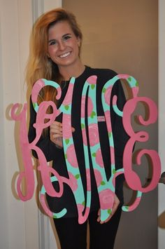 monogram and lilly