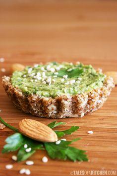 pesto and avocado mini tart