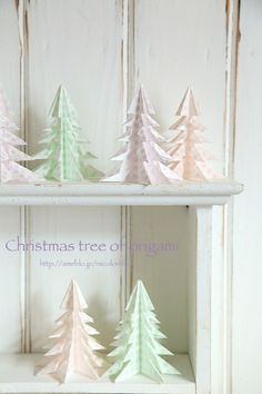 christmas tree of origami