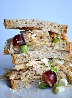 Slightly Sweet Chicken Salad Sandwiches