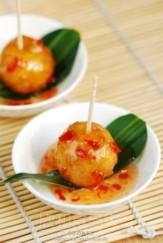 Fish Ball Recipe (Steamed Fish Balls With Bean Curd Sticks) Recipes ...