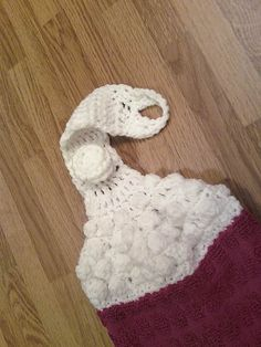 Crochet kitchen towel topper  https://www.etsy.com/listing/115979381/crocheted-top-kitchen-towel