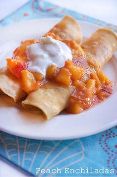 Peach Pie-Cream Cheese Enchiladas