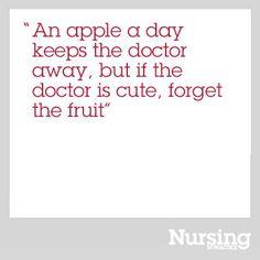 Apple a day #NursinginPractice #funny #quote #cute #apple #doctor #nurse