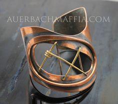 Cuff   Art Smith.  Copper and Brass.  1950