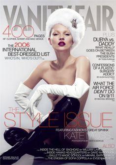 #English #model Kate Moss for #VanityFair 2006