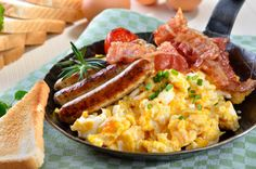 A hearty breakfast will get you through any hefty day.