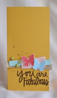 Our Fabulous by Ali Edwards stamp set + @Tanis Giesbrecht = This fabulous card!