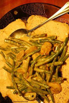 One Pot Pork And Green Beans With Mushroom Gravy Recipe - YoursAndMineAreOurs.com