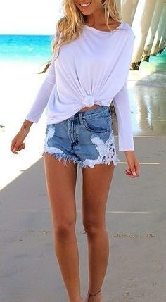 Love those jean shorts