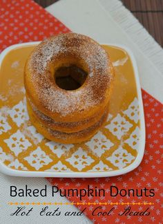 These are great for breakfast with a mug of chai tea!! Baked Pumpkin Spice Donuts from Hot Eats and Cool Reads!