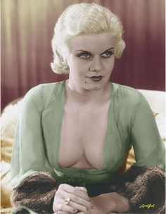 Jean Harlow in CHINCHILLA Fur (colourized) ♥