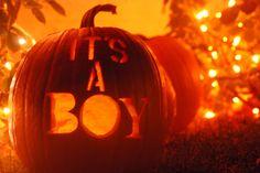 it's a boy! pumpkin