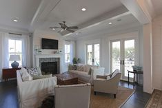 Smythe St - beach-style - Living Room - Charleston - Southeastern Custom Homes