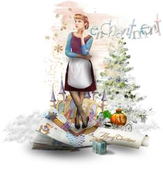 """""""Cinderella's Christmas"""" by triciamcmillan on Polyvore"""