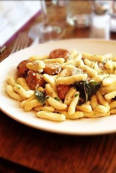Cavatelli with Sage Butter and Spicy Sausage at Frankie's Spuntino