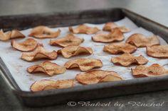cinnamon apple chips, idea, sweet, food, bake cinnamon, apples, recip, appl chip, dessert