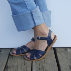 Sweet Navy Blue Saltwater Sandals by GoodTimesMarket on Etsy