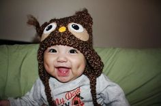 Owl hats are always cute!