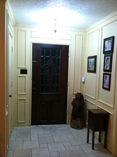 After I used GE Energy Smart Bulbs and got a new light fixture, my entry way shines!