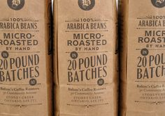 Brand & Packaging Design and Hand Lettering for Balzac's Coffee Roasters, a hand-crafted artisanal coffee brand.