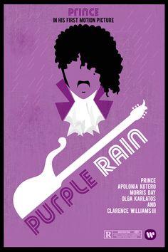 Purple Rain movie poster art #Prince