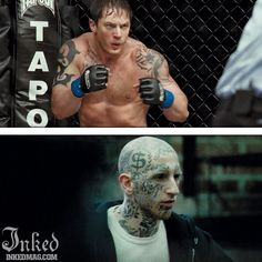 Best Tattoos In Movies-Pt3 : Inked Magazine - Warrior #tattoo #tattoos #movies #inkedmag #celebrities #celebritieswithtattoos #actor #actress