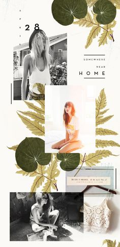 I like the format, not all the photos. The wording, HOME. Green & yellow inviting. Gorgeous layout | kellyn walker