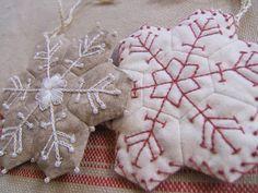 hexagon snowflakes - photo only