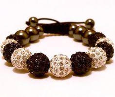 Black Shamballa Bracelet/White Shamballa Bracelet/Disco