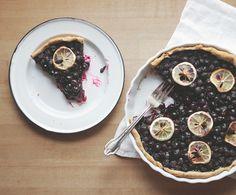 Blueberry meyer lemon biscuit pie