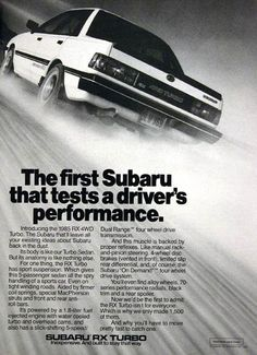 1985 Subaru RX Turbo - a WRX before the WRX