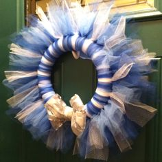 Winter themed tule wreath!