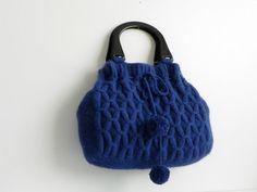 Knit women bag Autumn Fall fashion Handmade Knit bag by NzLbags, $140.00
