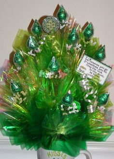 Luck Of The IRISH Candy Bouquet in Kisses  I am by CandyFlorist, $19.95