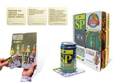 SP Breweries: Annual Report Made of Beer Coasters