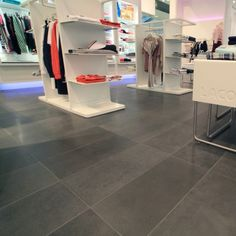 A lovely finished bluestone floor uses in commercial places
