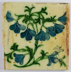 Antique Pilkington Art Noveau Ceramic Tile - 1906