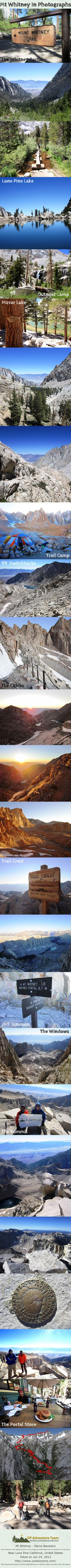 Mt Whitney Hike in Photos... awesome photo guide