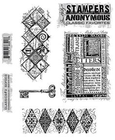 Stampers Anonymous - Tim Holtz Cling Mount Stamp -  Classics  3 WANT
