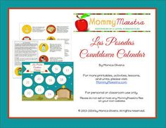Las Posadas #Printable Countdown Calendar - MommyMaestra.com