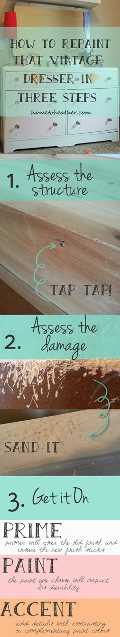 steps to repaint old furniture