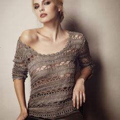Outstanding Crochet: Pullover. Hairpin crochet.