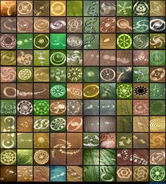 arty crop circles-