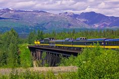 The Alaska Railroad from Talkeetna to Denali National Park, Alaska